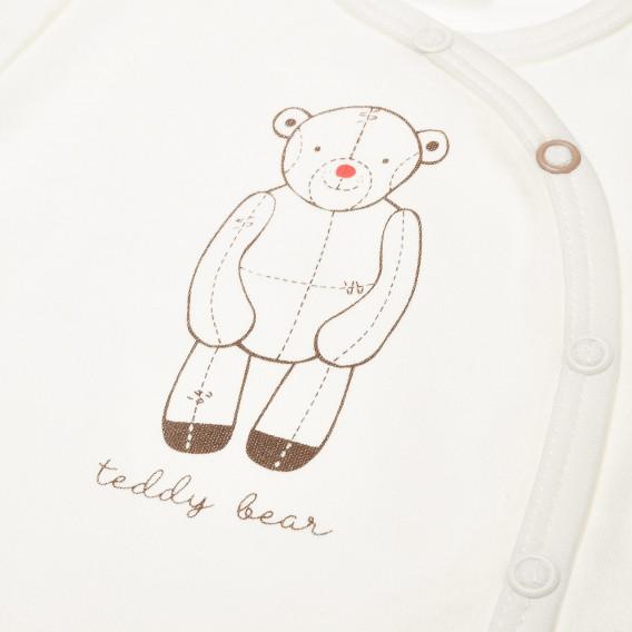 Памучно боди с дълъг ръкав за бебе - унисекс Pinokio 42639 3