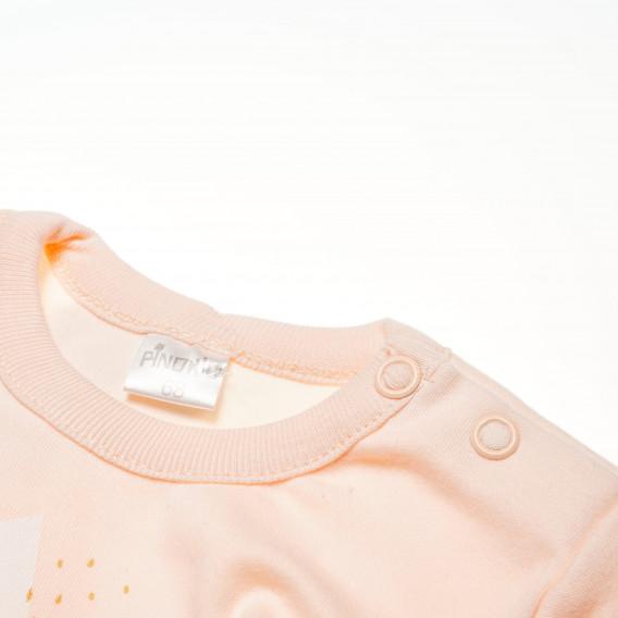 Памучно боди с дълъг ръкав за бебе момиче Pinokio 42648 3