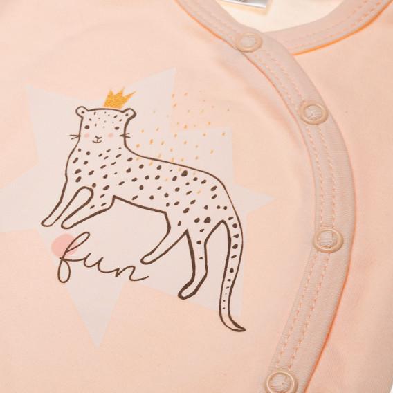 Памучно боди с дълъг ръкав за бебе момиче Pinokio 42652 2