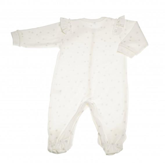 Памучен гащеризон с дълъг ръкав за бебе момиче Pinokio 43181 4