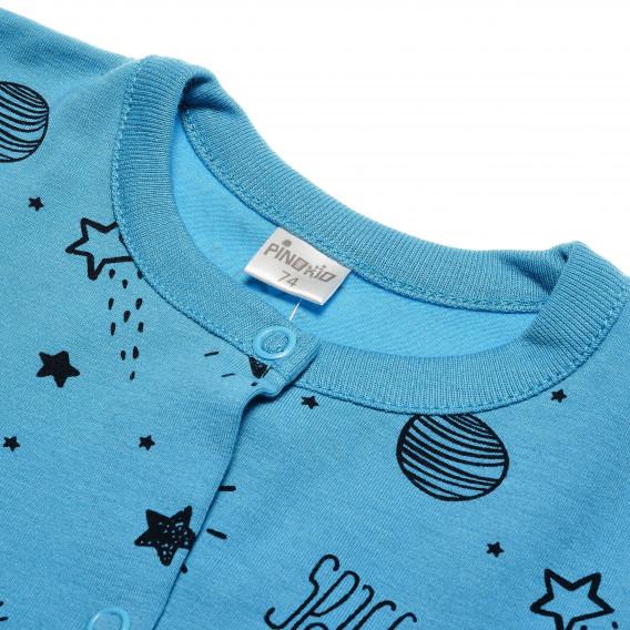 Памучен гащеризон с дълъг ръкав за бебе момче Pinokio 43243 3