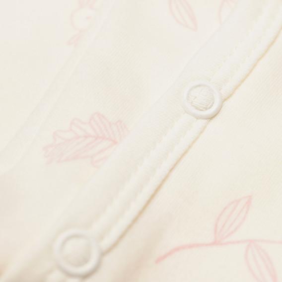 Памучно боди с дълъг ръкав за бебе момиче Pinokio 43290 2