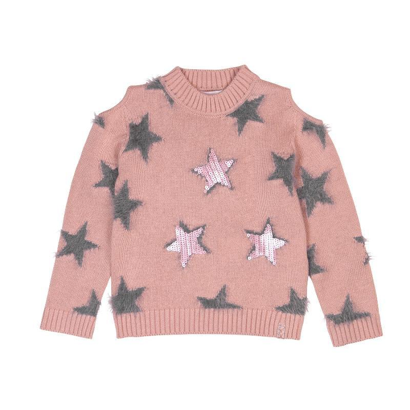 Пуловер за момиче на звезди  433