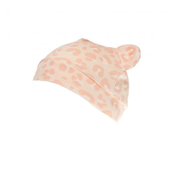 Памучна шапка с уши за бебе момиче Pinokio 43312 2