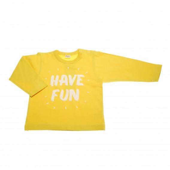 Памучна блуза с дълъг ръкав за бебе - унисекс Pinokio 43423 2