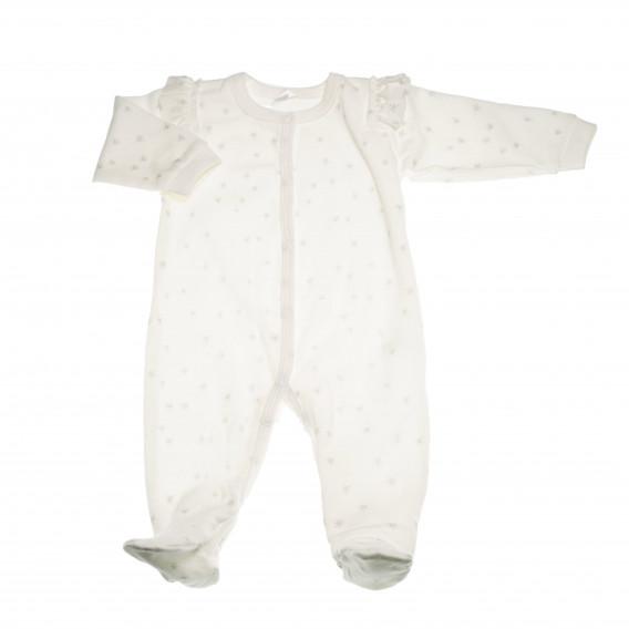 Памучен гащеризон с дълъг ръкав за бебе момиче Pinokio 43633 3