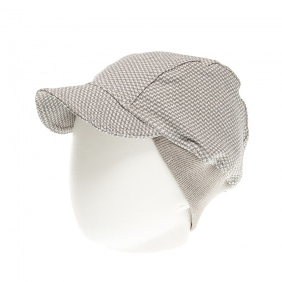 Памучна шапка с козирка за бебе момче Pinokio 43647 2