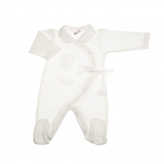 Памучен гащеризон с дълъг ръкав за бебе момиче Pinokio 43668 2