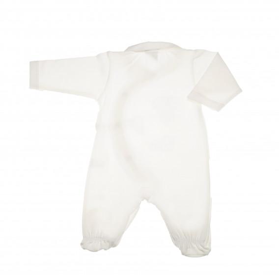 Памучен гащеризон с дълъг ръкав за бебе момиче Pinokio 43670 4