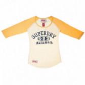 Памучна блуза с дълъг ръкав за момиче Super Dry 43933