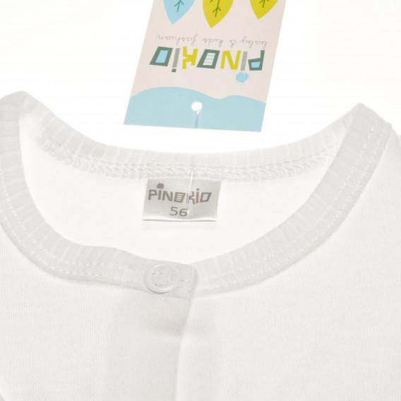 Памучен гащеризон с дълъг ръкав за бебе - унисекс Pinokio 44043 3