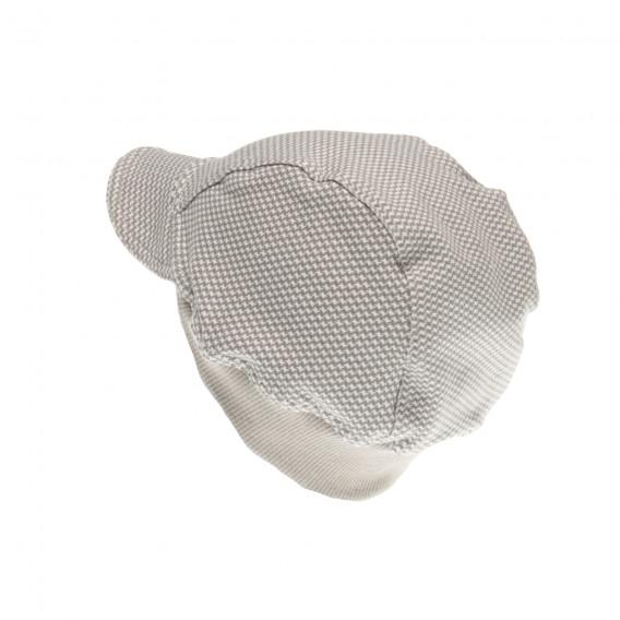 Памучна шапка с козирка за бебе момче Pinokio 44075 3