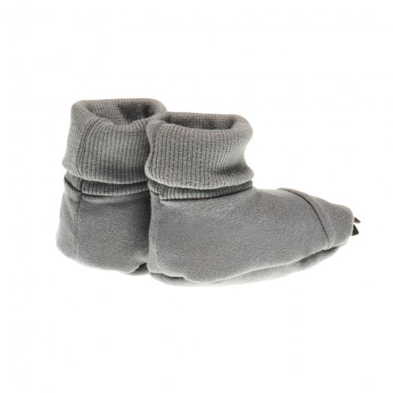 Памучни меки буйки мечешка лапа в сиво за бебе - унисекс Pinokio 44110 3