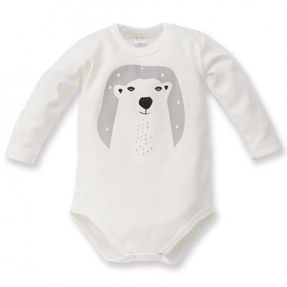 Памучно боди с дълъг ръкав за бебе - унисекс Pinokio 44299
