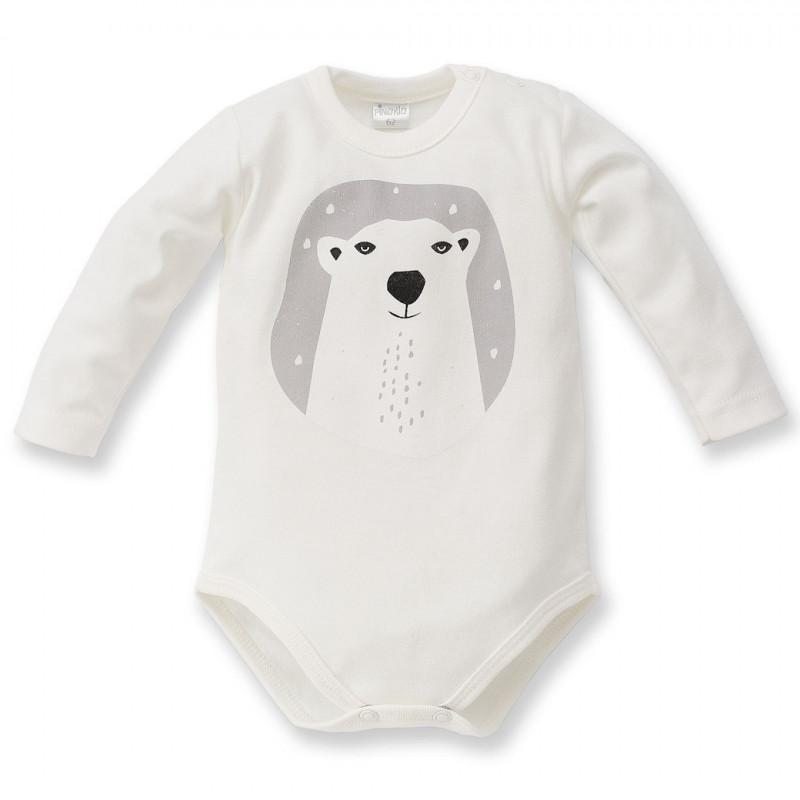 Памучно боди с дълъг ръкав за бебе - унисекс  44299