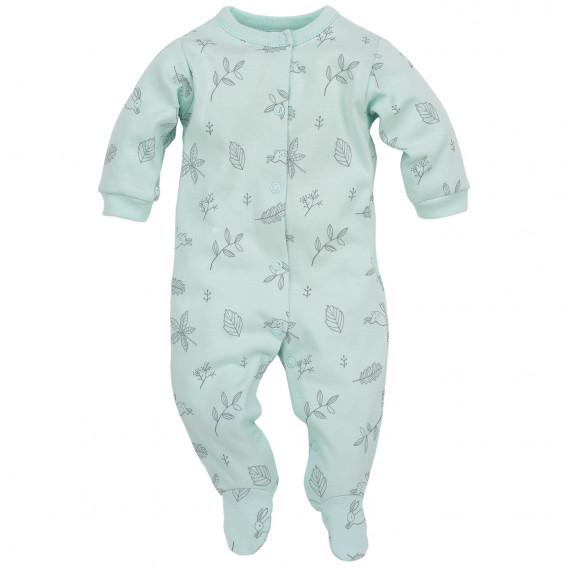 Памучен гащеризон с дълъг ръкав за бебе момиче Pinokio 44396