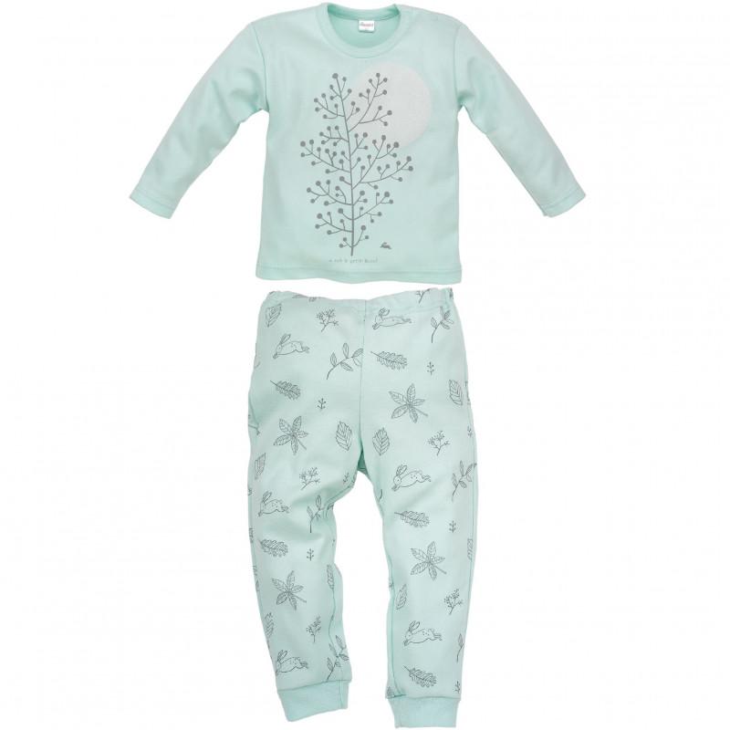 Памучна пижама за бебе момиче  44400