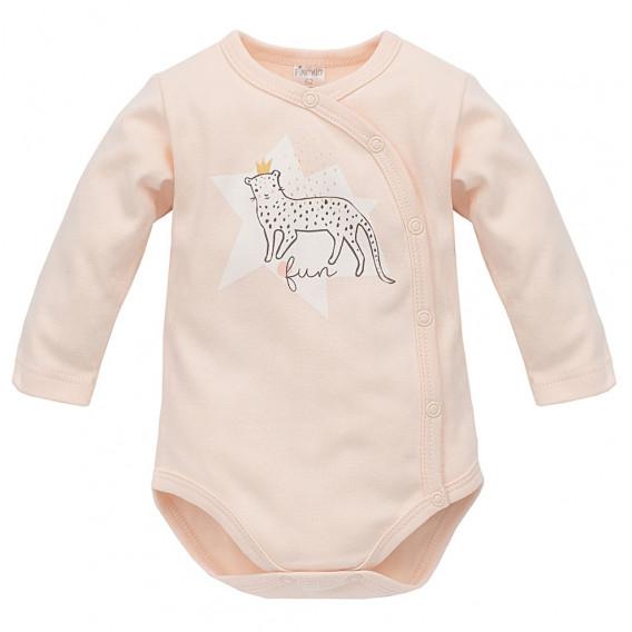 Памучно боди с дълъг ръкав за бебе момиче Pinokio 44492