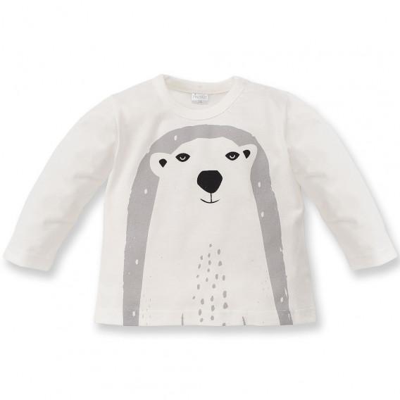 Памучна блуза с дълъг ръкав за бебе - унисекс Pinokio 44494