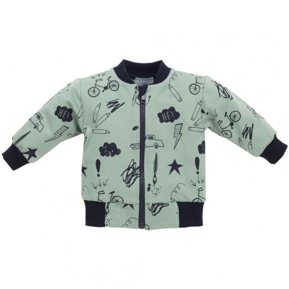 Памучен суитчър за бебе момче Pinokio 44503