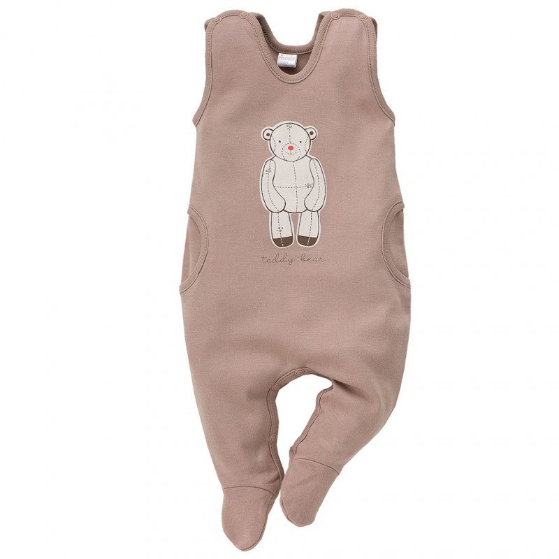 Памучен гащеризон без ръкав за бебе - унисекс  44504