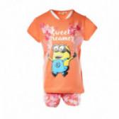 Памучна пижама за момиче KIABI 45302
