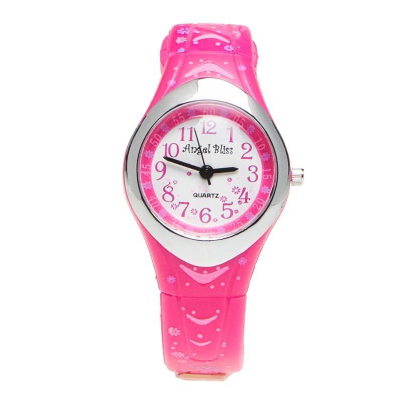 Луксозен часовник за момиче розов  50541