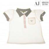 Памучна блуза с къс ръкав за бебе момиче Armani 50563