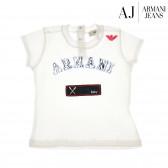 Памучна блуза с къс ръкав за бебе момиче Armani 50573