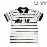 Памучна блуза с къс ръкав за момче Armani 50578