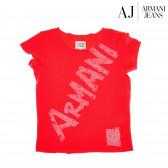 Памучна блуза с къс ръкав за момиче Armani 50592