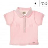 Памучна блуза с къс ръкав за бебе момиче Armani 50595