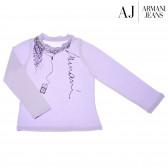 Памучна блуза с дълъг ръкав за момиче Armani 50599