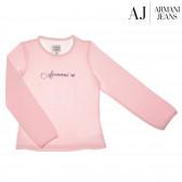 Памучна блуза с дълъг ръкав за момиче Armani 50606