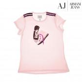 Памучна блуза с къс ръкав за момиче Armani 50615