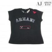 Памучна блуза с къс ръкав за бебе момиче Armani 50618
