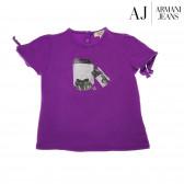 Памучна блуза с къс ръкав за бебе момиче Armani 50622