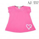 Памучна блуза с къс ръкав за момиче Armani 50626
