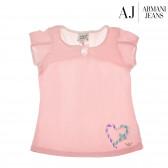 Памучна блуза с къс ръкав за момиче Armani 50629