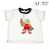 Памучна блуза с къс ръкав за бебе момиче Armani 50660