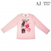 Памучна блуза с дълъг ръкав за момиче Armani 50680
