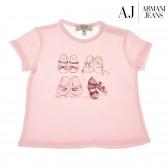 Памучна блуза с къс ръкав за момиче Armani 50683