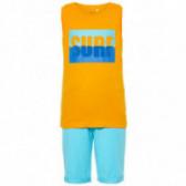 Комплект от памучни потник и къс панталон за момче Name it 50809
