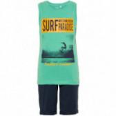 Комплект от памучни потник и къс панталон за момче Name it 50814
