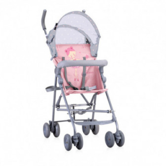 лятна количка LIGHT Grey&Pink BALLET за момиче Lorelli 53792