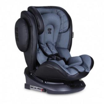 стол за кола с регулиране на облегалката AVIATOR SPS Isofix Black&Dark GREY унисекс Lorelli 53853