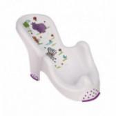Пластмасова подложка за къпане hippo - бяла унисекс Lorelli 53868