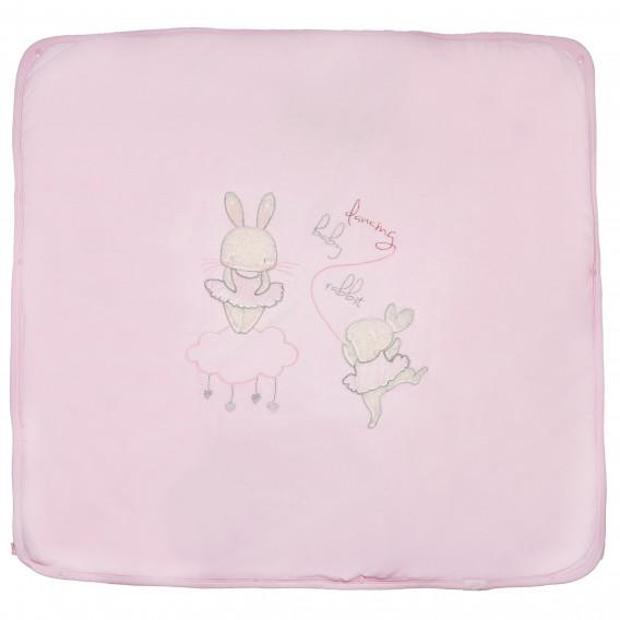 Плюшено одеяло порт за бебе момиче Bebetto 54467