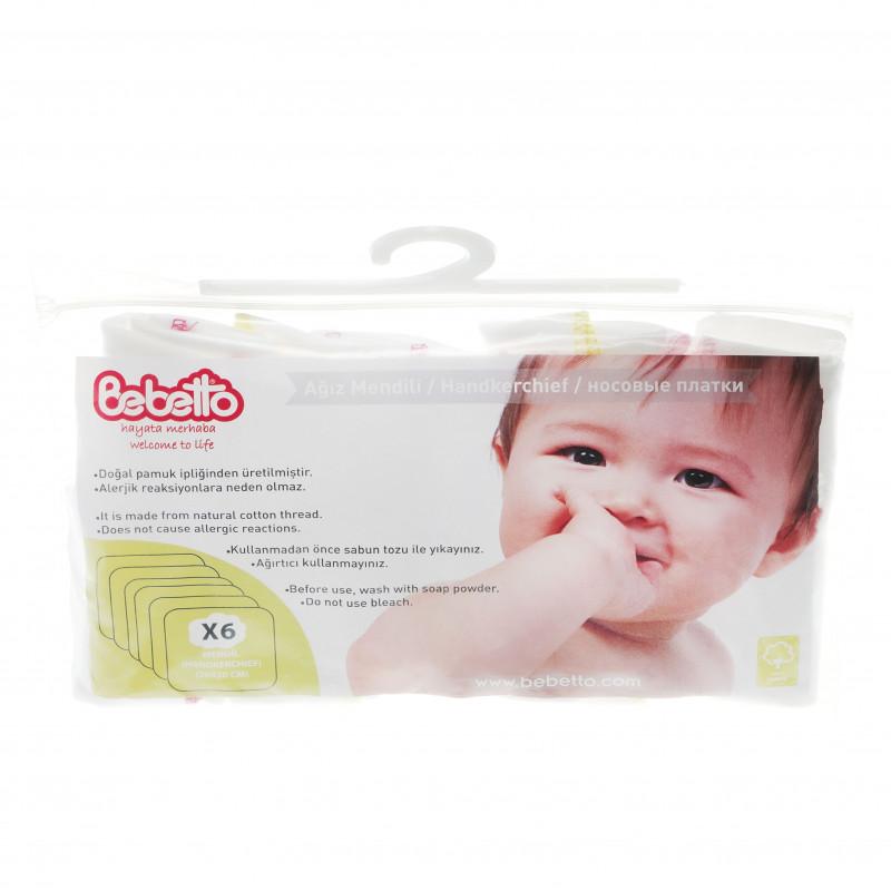 Памучен комплект 6 броя кърпи за бебе момиче  54498