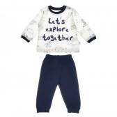 Памучна пижама с дълъг ръкав за бебе момче Bebetto 54512